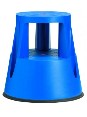 Stegpall, plast, 2 steg, blå