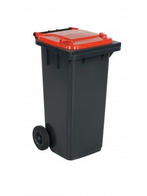 Avfallskärl 120L rött lock