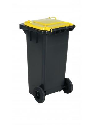 Avfallskärl 120L gult lock