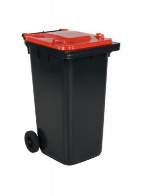 Avfallskärl 240L rött lock