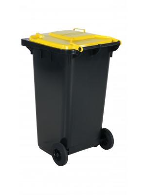 Avfallskärl 240L gult lock