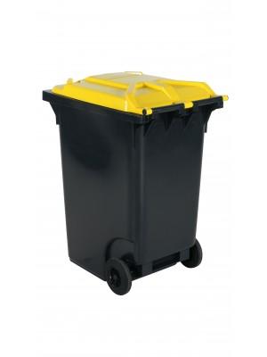 Avfallskärl 360 L, gult lock