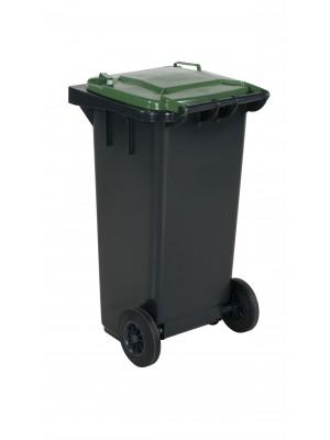 Avfallskärl 120L grönt lock
