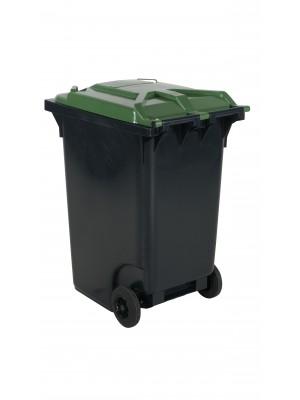 Avfallskärl 360 L, grönt lock