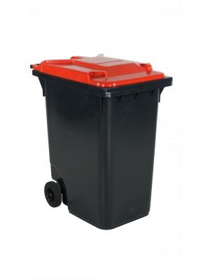 Avfallskärl 360 L, rött lock