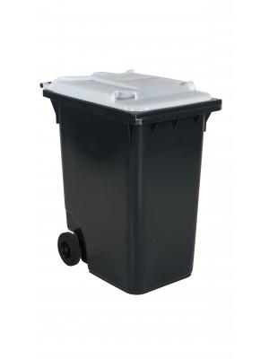 Avfallskärl 360 L, vitt lock