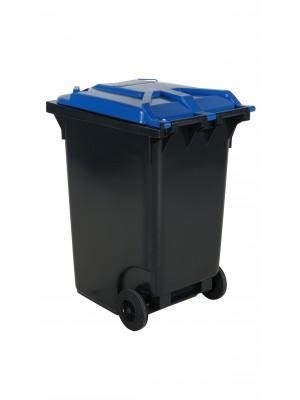 Avfallskärl 360 L, blått lock